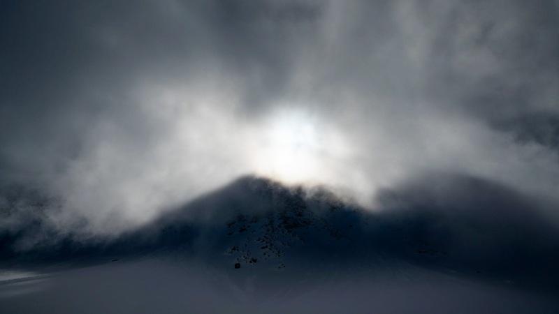 Ambiance ! Un nuage nous recouvre.