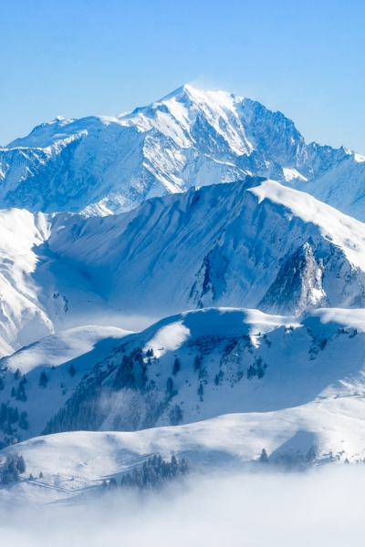 Mont Blanc vu depuis le Tournette