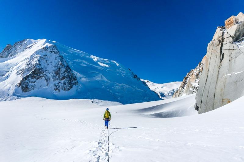 Au pied de l'Aiguille du Midi, Chamonix