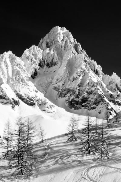 Aiguille du Chardonnet depuis les Grands Montets